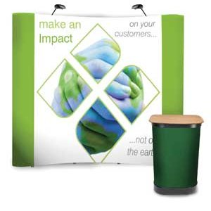 Image showing the impact pop-up display with graphic and carry case with graphic wrap