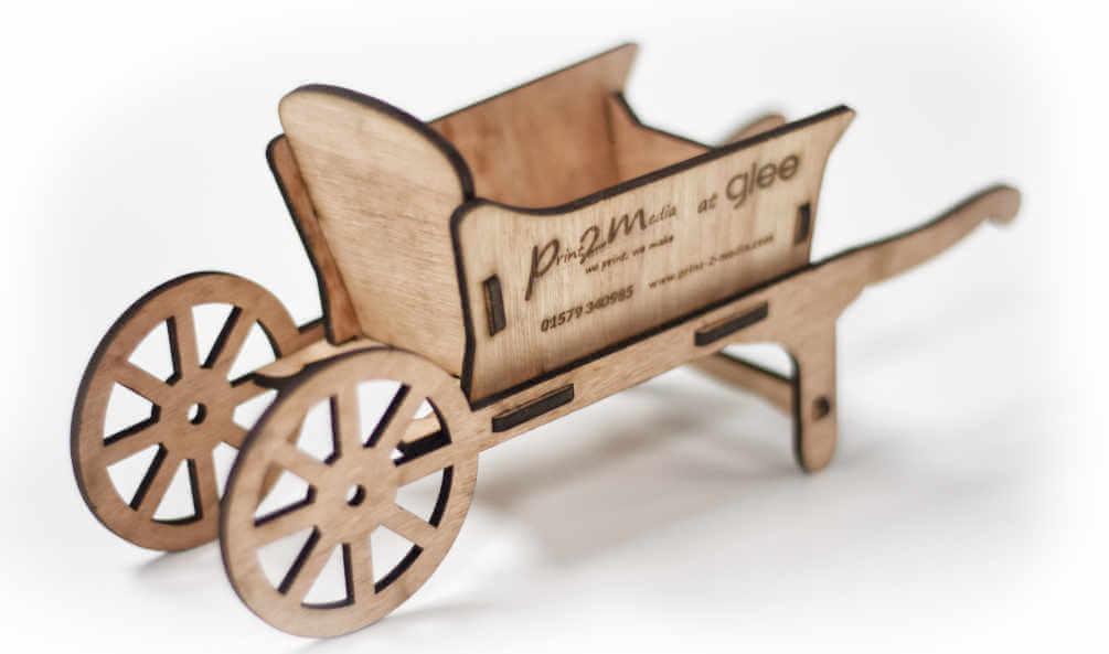 Glee Laser Cut Plywood Wheelbarrow