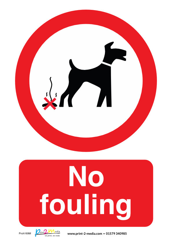 No fouling safety sign