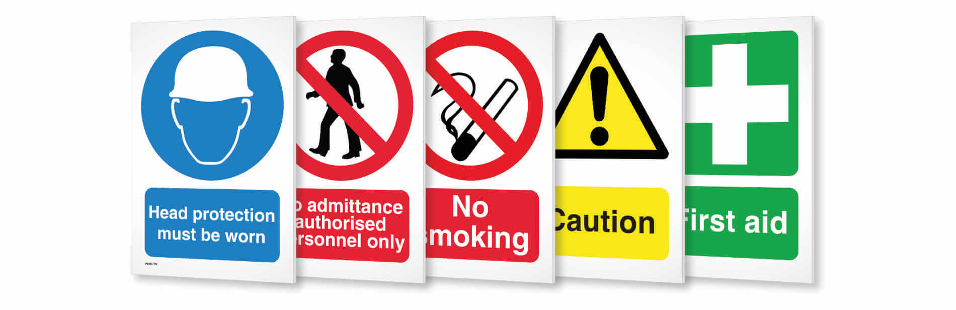 An example of health and safety signs made by Print 2 Media