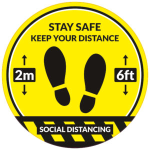 Social Distancing Floor Sticker - Circular